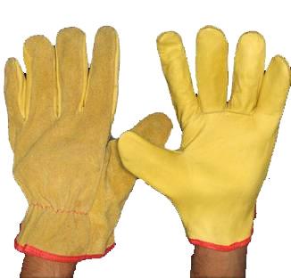 Guante Vaqueta Amarilla ½ Medio Paseo Combinado Descarne IRAM