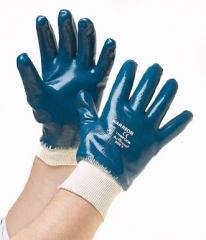 Guante de Nitrilo Azul Puño Elastico