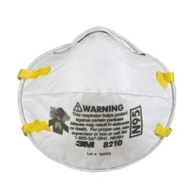 Respirador 3M 8210 N95 para Polvos Humos y Neblinas Corona Virus ( Covid-19 )