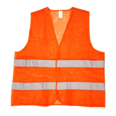 Chaleco Fluo Naranja Con Reflectivo Norma Vial