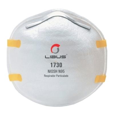 Respirador Libus N95 1730 para Polvos, Humos y Neblinas Corona Virus ( Covid-19 )