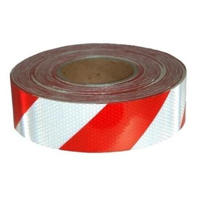 Cinta 3M Reflectiva para Transporte Rojo y Blanco Grado Diamante 75mm X 1 Cm
