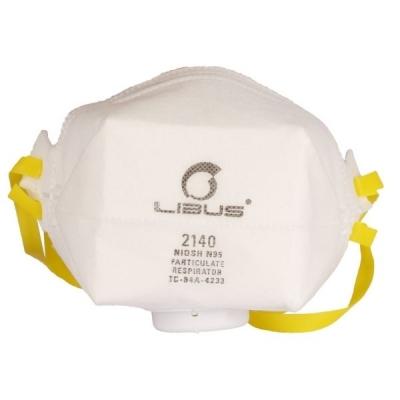 Respirador Libus Plegable N95 2140C para Polvos, Humos y Neblinas con Válvula Corona Virus ( Covid-19 )