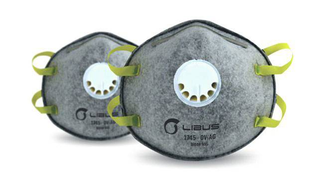 Respirador Libus 1745 N95 Vapor Organico con Valvula