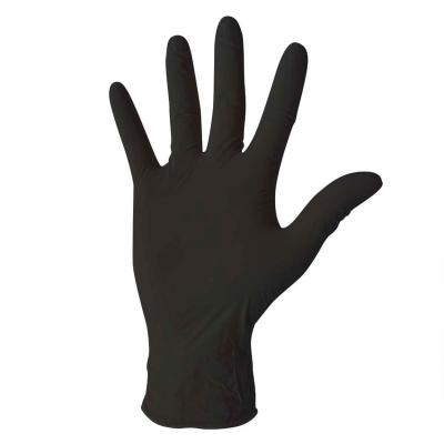 Guante Nitrilo Negro Examinación sin Polvo Caja X 100