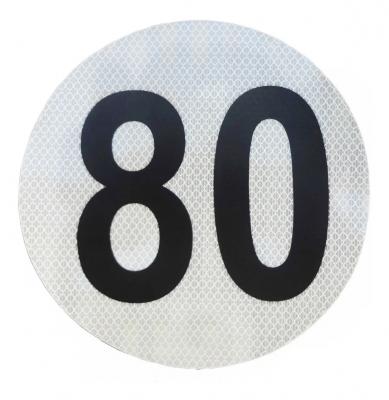Círculo Reflectivo de 3M Máxima Velocidad 80