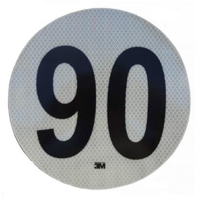 Círculo Reflectivo de 3M Máxima Velocidad 90