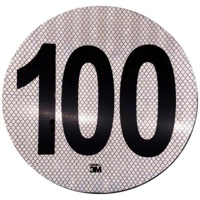 Círculo Reflectivo de 3M Máxima Velocidad 100