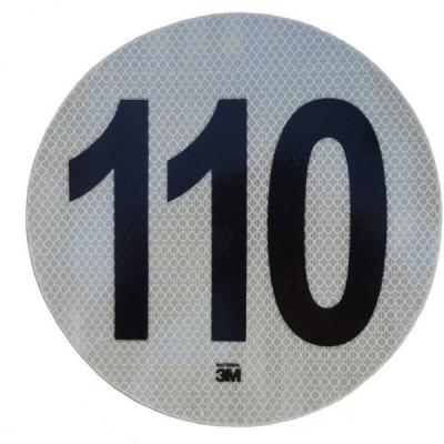 Círculo Reflectivo de 3M Máxima Velocidad 110