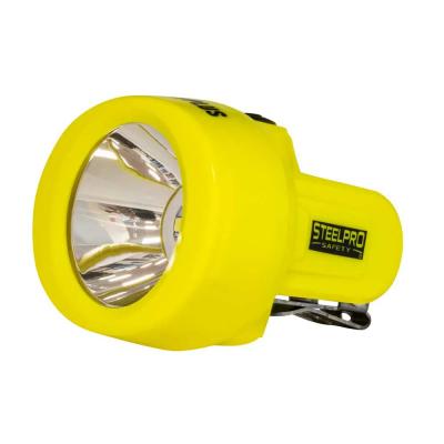 Lampara Minera p/Casco Luz Led de 10.000 Lux Cargador Usb Incluido STEELPRO