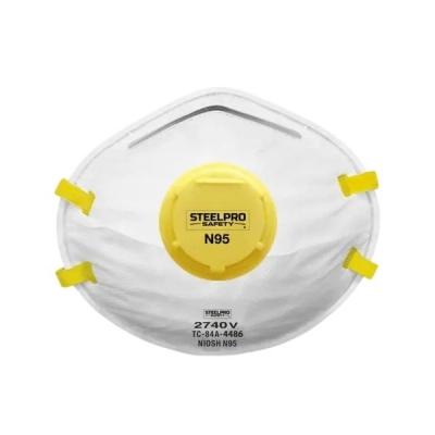 Respirador STEELPRO 2740 N95 con Válvula para Polvos, Humos y Neblinas