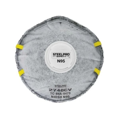 Respirador STEELPRO 2740CV N95 Vapor Orgánico con Válvula
