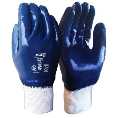 Guante Nitrilo Azul Puño Elástico DUTY