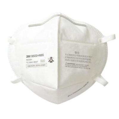 Respirador Plegable 3M 9502 N95 p/Polvos Humo y Neblinas