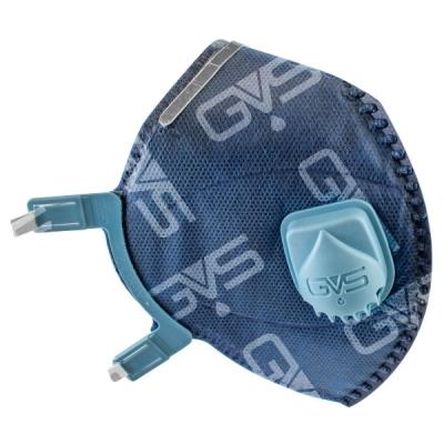Respirador Descartable GVS AERO 2 Plegable p/ Polvos, Humos y Neblinas PFF2 c/Válvula
