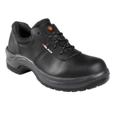 Zapato Bladi Cuero Flor Suela Pu Bidensidad con Bumper Negro