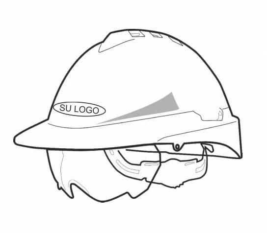 Colocacion de Logo Impreso Sobre Casco Libus Milenium Class