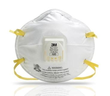 Respirador 3M 8210V N95 para Polvos Humos y Neblinas Con Valvula Corona Virus ( Covid-19 )