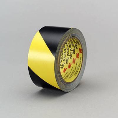Cinta Demarcatoria Vinilica Adhesiva Amarilla y Negra 50 mm x 33 mts